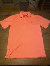 Oxford Golf Cool Max Ritz Carlton Aruba Polo Shirt Size Small Orange/Red