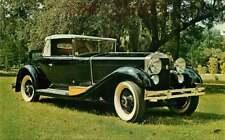 Postcard 1928 Isotta Fraschini Convertible Coupe - Silver Springs, Florida