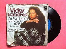 Vinyle, VICKY LEANDROS, 45 Tours VINTAGE, AUDF WIEDERSEHN,IHR FREUNDE MEIN