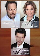 3 Verbotene Liebe Autogramme Susanne Szell, Sebastian Schlemmer & Till Demtroder