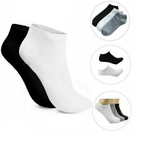Mens Womens Kids INVISIBLE Ankle Cotton Sports Trainer Socks Comfort lot