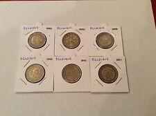 Lot de 6 pièces de 2 € commémoratives Belgique 2005/06/08/09/10/11