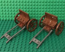 Lego X2 MOC City Wheeled Drawn Passenger Carriage Wagon With Horse Hitching Part