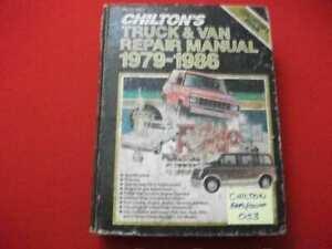 CHILTON'S US & IMPORT TRUCK & VAN REPAIR MANUAL 4WD 1979-1986 COLLECTORS EDITION