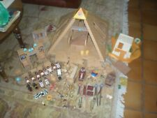 GROS LOT PLAYMOBIL PYRAMIDE EGYPTE