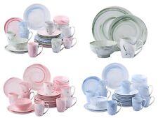 16Pc Porcelain Ceramic Stoneware Complete Dinner Set Dessert Plate Bowl Cup New