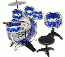 NEW 11pc Kids Boy Girl Drum Set Musical Instrument Toy Playset BLUE