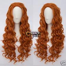 Manga Wig 80cm Orange Cosplay Perücke Lolita Gelockte Halloween Frauen Lang Haar