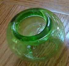 NEW SOUTHERN LIVING AT HOME GREEN CLEAR GLASS CANDLE HOLDER -- LARGE