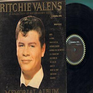 Ritchie Valens Memorial Album LP Record Del-Fi 1225 RARE FREE SHIPPING