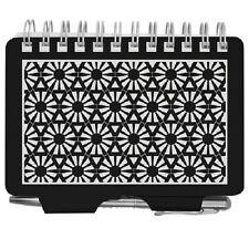 Wellspring Address Book #2840 Black & White Burst Purse/Backpack Sized Organizer