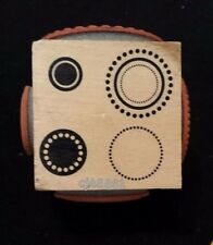 CIRCLES IN CIRCLES JudiKins Rubber Stamp Cube (4 Images on one block) spots dots