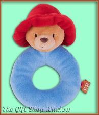 Nouveau ours paddington peluche boucle anneau hochet bébé-cadeau super doux jouet de naissance