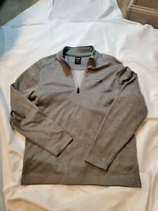 Oakley Men's Pullover Sweatshirt Gray 1/4 Zip Long Sleeve Size SMALL regular fit