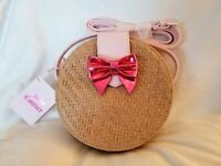 NEW!!! Juicy Couture Crossbody Bag/Purse Straw Bag with Pink Bow