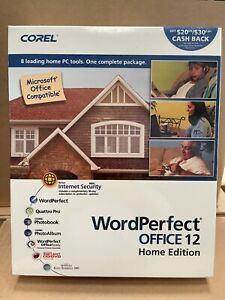 NEW SEALED Corel WordPerfect Office 12 Home Edition Microsoft Office Compatible