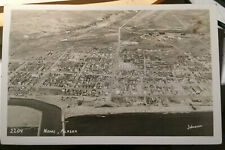 NOME, ALASKA Johnston Photo Post Card BIRDSEYE, Seward Peninsula, Bering Sea