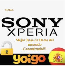 Liberar SONY/SONY ERICSSON YOIGO ESPAÑA!UNLOCK SONY YOIGO!!MEJOR BASE DE DATOS!!