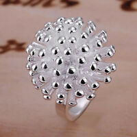 FM- New 925 Silver Plated Women's Fashion Jewelry Fireworks Ring Wholesale Dream