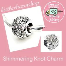 Authentic Genuine Pandora Sparkling Love Knot Charm 791537cz