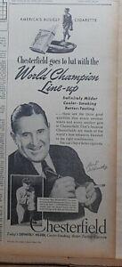 1940 newspaper ad for Chesterfield - Joe McCarthy New York Yankees