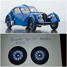 1:18 Bugatti Type 57 SC Atlantic 1938 Blue By CMC - SPARES - TWO WHEELS ONLY