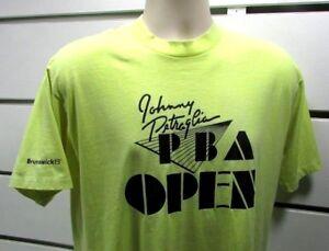 Brunswick Murina's Mens T-Shirt L JOHNNY PETRAGLIA PBA OPEN Neon VTG Rare USA