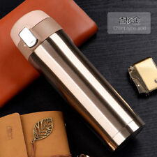 17OZ Thermos Coffee Travel Mug Stainless Steel Vacuum Flask Thermos Bottle Gold