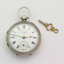 RARE Sterling Silver 18 Lignes 52.5mm JG Graves Express Sheffield Pocket Watch
