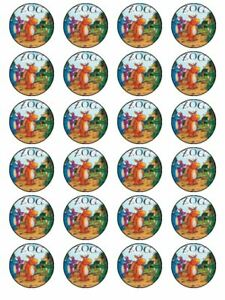 24 X PRE CUT ZOG BIRTHDAY WAFER/RICE PAPER CAKE TOPPERS