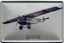 Fokker-Grulich F.III 1920 Flugzeug Deutsches Reich 20x30 cm Deko Blechschild 410