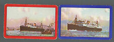 "Playing Swap Cards 2 GENUINE  VINT SHIPPING/STEAMSHIP ""MANOORA & MANUNDA"" #13"