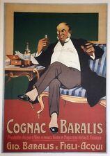 """""""COGNAC BARALIS"""" Affiche entoilée  STAB E. CASANOVA vers 1960  73x102cm"""