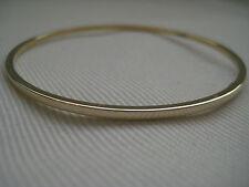 Gold slave bangle yellow 9 carat 2mm