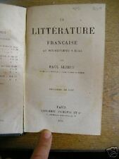 ALBERT littérature française au XVIIe s. 1875