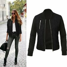 Fashion Women Long Sleeve Slim Zipper Casual Blazer Suit Jacket Coat Outwear Top