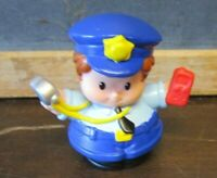Fisher Price Little People police girl woman cop fuzz whistle crossing guard po