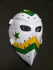 Vintage Fiberglass Hockey & Halloween Goalie Mask Dallas Stars style