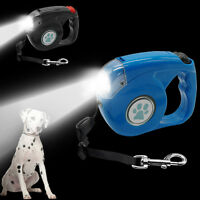 Retractable Dog Leads with Light Extendable Pet Puppy Leash Safety for Dogs 4.5M