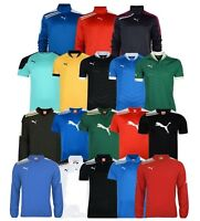 MENS PUMA T-SHIRTS POLOS BRANDED CASUAL LONG/SHORT SLEEVE TRAINING TRACK TOPS