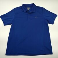 Greg Norman for Tasso Elba Mens Short Sleeve Play Dry Polo Golf Shirt Blue M