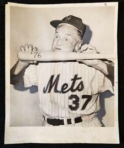 1966 Casey Stengel Charles Hoff Type 1 Vintage Photo N.Y Daily News Casey's Bday