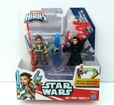 Playskool Galactic Heroes Star Wars Rey (Resistance) & Kylo Ren Unmasked - RARE