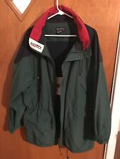 Nautica Forest Green Red And Blue Sailing Jacket Men's Large