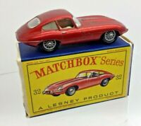 VINTAGE MATCHBOX SERIES LESNEY No 32b  E TYPE JAGUAR  BOXED