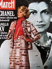 Paris Match Nr. 1160 Haute Couture Chanel 1ère Kollektion ohne Mademoiselle 1971