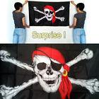 Pirate Flag 3x5 ft Calico Flag Balloween Jolly Roger Skull Flag Polyester Banner