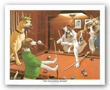 DOG ART PRINT The Scratching Beagle Arthur Sarnoff