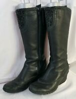 Merrell  Larkspur Womens Black Leather  Boots Size 8.5 M side zip