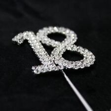 Number 18 Rhinestone Diamante Gem Cake Pick Number Topper Anniversary Birthdays
